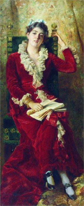Портрет Ю.П.Маковской, 1881