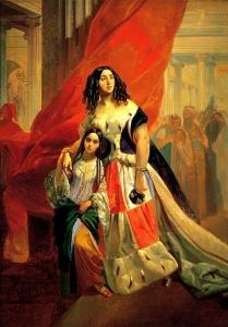 Портрет графини Юлии Павловны Самойловой, удаляющейся с бала с приемной дочерью Амацилией Пачини